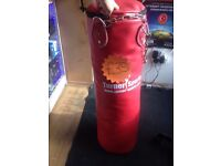 Boxing Bag Turner Sports Red Excellent Condition