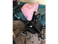Bugaboo Buffalo pushchair, pram in Soft Pink with Genuine Black Frame