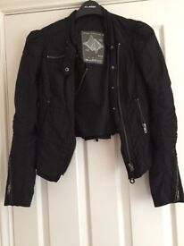 As new black cropped jacket