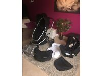 3 in one Mothercare pram phushchair car seat with all covers and instructions