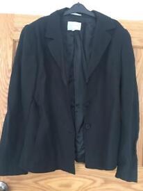 Jigsaw Black Linen Suit Jacket (linen) size 12