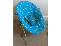 Blue baby bouncer free