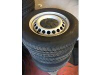 Volkswagen Transporter Steel Wheels and Tyres - As new