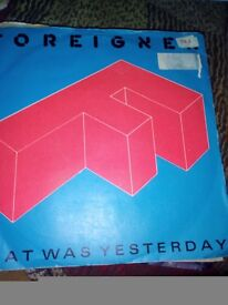 Foreigner.vinyl record 45 rpm, that was yesterday