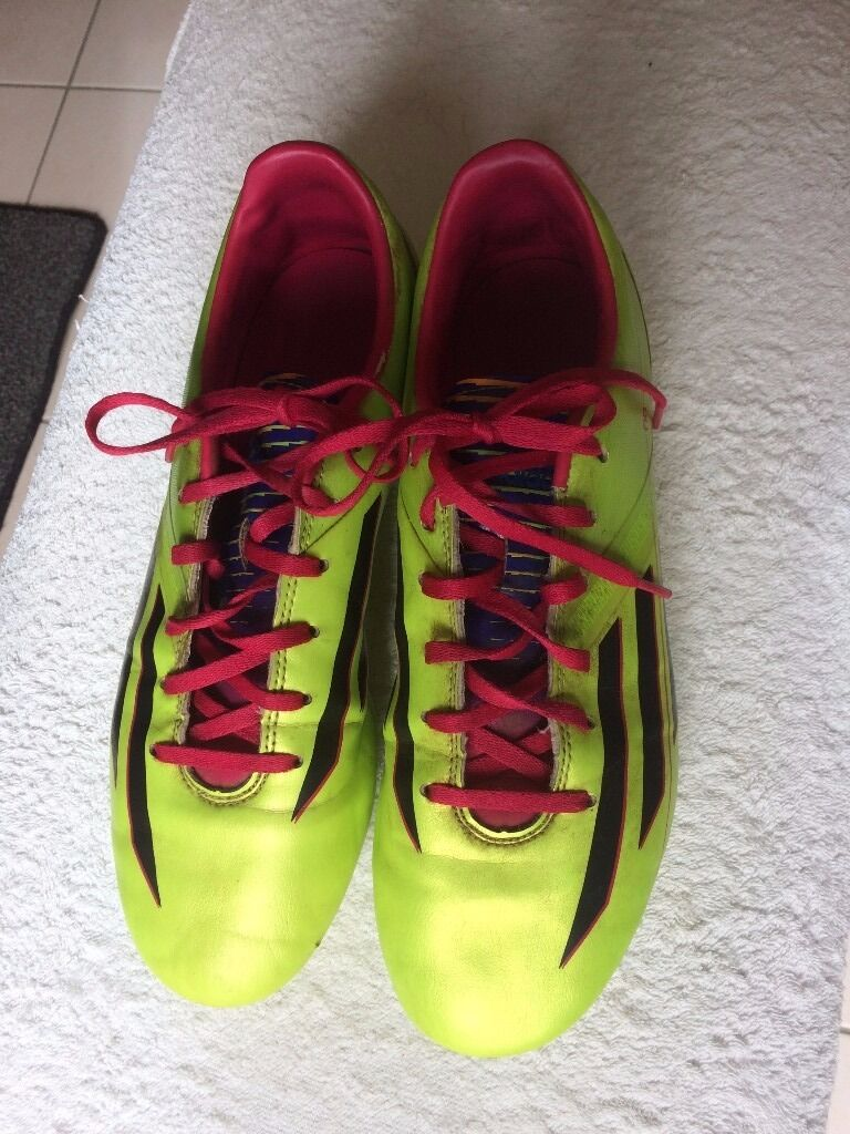Adidas football boots (size 8 teenagersin Petersfield, HampshireGumtree - Adidas Football Boots Outgrown football boots with moulded studs. Plenty of life left in them; no bad odours! Adidas f10 size (adult) 8 42 European size