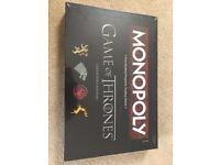 Brand New Limited Edition Game of Thrones Monopoly Game, Never Opened