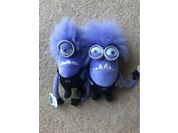 Purple Minions plush childrens toys with tags - Despicable Me - £5 each