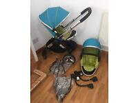 Icandy Sweet Pea double coverts to single pushchair excellent condition