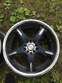 Multi spoke alloy wheels