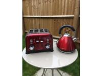 Morphy Richards Red Kettle and Toaster Set