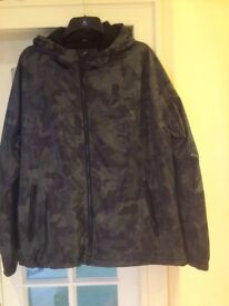 Brand new Next camouflage hooded jacket