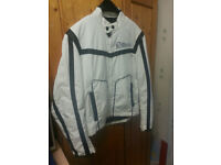 Avirex biker jacket white £20