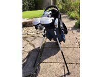 "US Kids Golf 48"" golf clubs and golf bag"