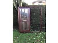 Solid wooden door and frame