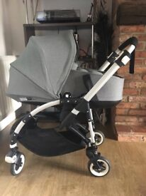 Bugaboo bee 3 Grey Pushchair +Bassinet Carry Cot + Extras in Exellent conditioN