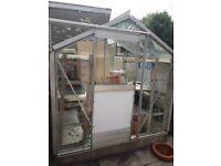 "Free Aluminium Frame Greenhouse 4' x 6'6"""