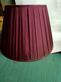 Large burgundy lampshade