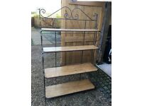 Gunmetal & Wood Folding Bakers Rack
