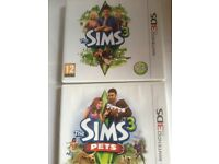 Sims 3 and Sims 3 pets 3DS games