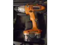 WORX Cordless Drill 14.4V WX14DD used