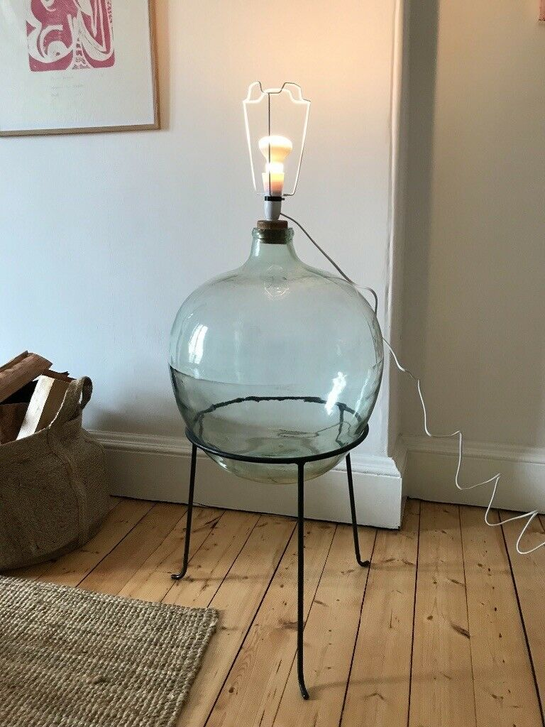 Vintage Demijohn Carboy 60 S Tripod Lamp Glass In Leith