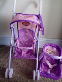 Sofia the First Pushchair + Baby Carrier