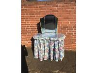 Vintage retro kidney dressing table