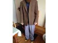 Vintage Harris tweed hand woven men's jacket size medium/large