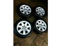 "4x Bmw style 45 16"" alloys with tyres"