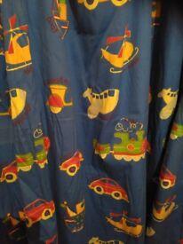 Long children's curtains