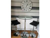 Breakfast table and bar stools