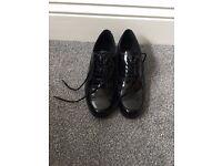 Ladies Black Patent Shoes. Size 5.5