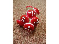 8 Mini Toadstool Mushroom Decorations Crafts Fairy Garden Flower arrangements Floristry Additions