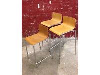 13 x Bentwood Breakfast Bar/Kitchen Stools