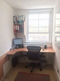 Desk space in small Mayfair office. Great natural light and quiet. Suit base for 2-3 days per week