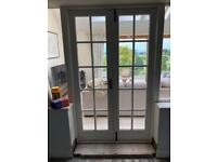 Internal glass French doors
