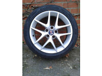 "Saab 17 "" 5 spoke Twin alloy wheel . Excellent condition -no scratches or marks"