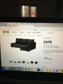 Ikea SOFA BED (DOUBLE) FRIHETEN Bomstad Black