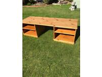 Large solid pine TV stand ( can deliver )