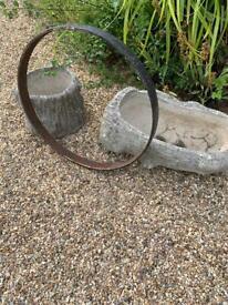 """Cast iron vintage ring. Garden 25"""" x 2"""""""