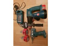 Makita tools, radio and 4 batteries
