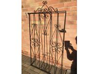 Wrought iron gate 63'highx45'wide