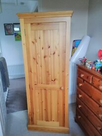 Solid pine cupboard with draws - Hitchin
