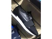 Balenciaga black with white sole