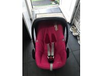 Maxi cosi pebble plus car seat pink cover in great condition from smoke free home