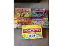 Monopoly various collectible editions