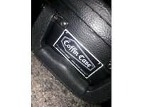 coffin case and marshall MG1PCF practice amp