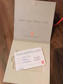 £25 Sweaty Betty Voucher