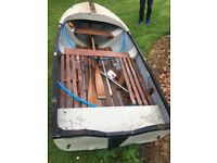 12ft boat, 4hp (4stroke) outboard and trailer etc