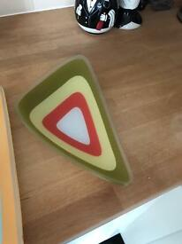 Retro serving plates set of 3